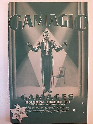 GAMAGIC VINTAGE CATALOGUE FROM GAMAGES, HOLBORN 1950s? No. 8 RARE