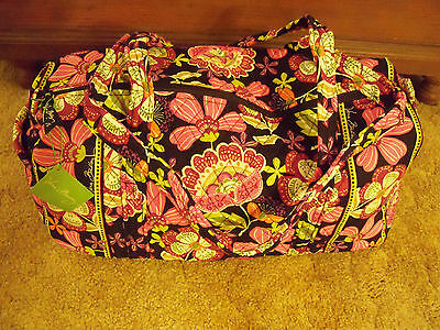 NWT Vera Bradley SMALL DUFFEL Travel Bag in PIROUETTE PINK~Carry On Bag~$69