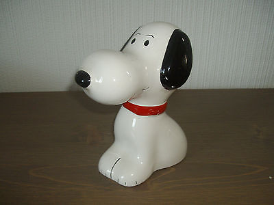 Unbranded ~ Snoopy Moneybox ~ Ceramic ~ Good Condition