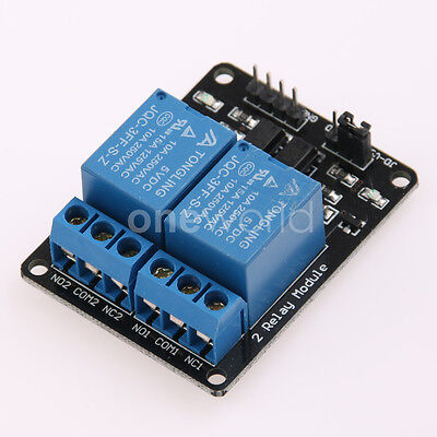 Opto Isolated 5V Relay Module Board For Arduino 2 Channel 10A