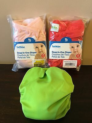 Bumkins Snap-in-One Cloth Diapers - One Size (Lot of 3)