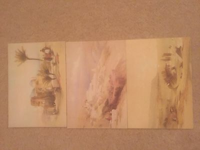 Three Lithograph Postcards from Holy Land
