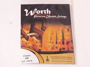Worth CT Clear Medium Ukulele Strings