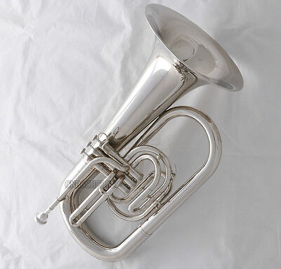 Professional JINBAO Silver Nickel Marching Euphonium Horn B-Flat Key With Case