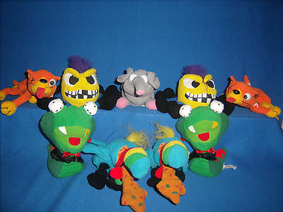 **CLEARANCE** Lot of 9 MEANIES Plush beanbag toy Series 1 Idea Factory (F27--5)