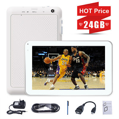 """NEW 9"""" In 24GB Android 4.4 Quad Core Capacitive Screen Bluetooth WIFI Tablet PC"""