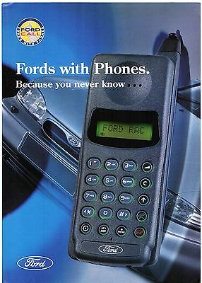 Ford Call Mobile Phone Packages 1994-95 UK Market Foldout Sales Brochure