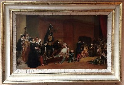 19th Century Oil Painting On Canvas Unsigned Framed