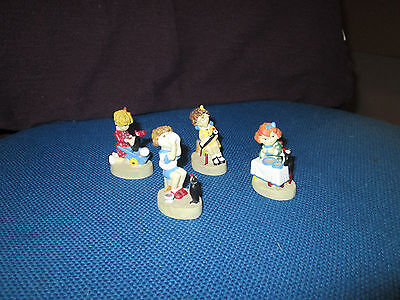 Lot of Four Vintage Ovaltine Resin Figures - Excellent Condition