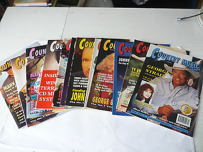 12 Country Music People Magazines 1995