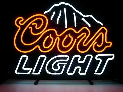 "New Coors Light Beer Real Glass Handmade Neon Sign 17""x14"" [Ship From USA]"