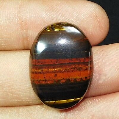 39.75Cts 100% NATURAL ROYAL IRON TIGER OVAL 27X20 LOOSE CAB GEMSTONE UG217