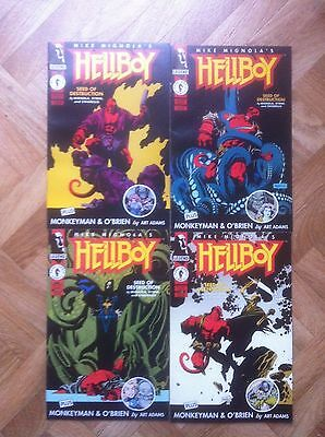 Hellboy Seed Of Destruction 1  To 4 Complete Set Mignola Near Mint (W4)