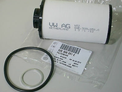 Genuine VW Gearbox Oil Filter AND Seal Kit for 6 Speed DSG Auto Gearbox