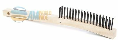 """Wooden Curved Handle Brush. Lenght 6 1/4"""" And The Trim 1 3/16"""""""