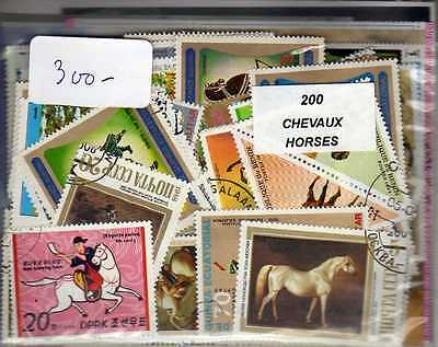 CHEVAUX 200 timbres différents