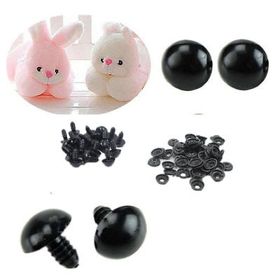 Safety 100pcs HOT For Teddy Bear Black 6-14mm Animal/Felting Plastic Eyes Toy