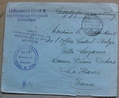 world covers ww1 pow senne camp belgian central office le havre