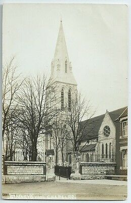 Vintage Postcard. St.Mary's Church From Chapel Rd.,Southampton. Unused. Ref:6-21