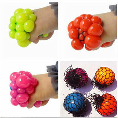 Face Squeeze Reliever Mood ADHD Relief Stress Toy Anti Autism Grape Ball