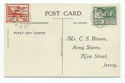 Eb 48. 1 Jun 1943 Jersey wartime issue first day card of 1d & ½d issue.