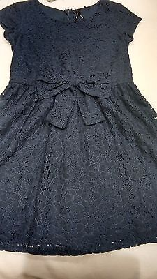 Girls navy lace dress from Next-immaculate condition