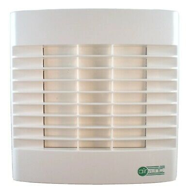"Bathroom Extractor Fan for Humidity Control 4""/100mm - Humidistat/Auto Shutters"