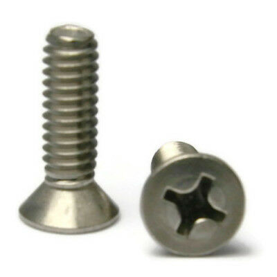 "Pan Head Phillips Machine Screws Stainless Steel  #1//4-20 x 1-1//4/"" Qty-100"