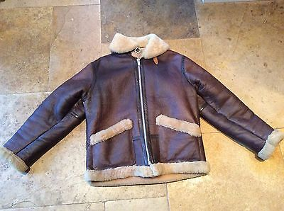 Vintage Biker / Flying Jacket Sheepskin ,leather