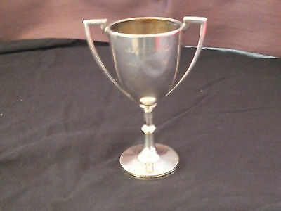 Antique Edwardian Solid Silver Twin Handled Trophy - Golf