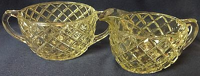 Waterford Crystal Creamer and Sugar Hocking Glass Company