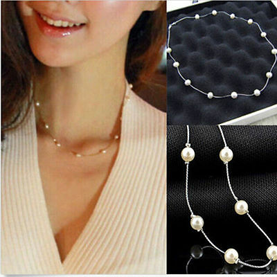 Charm Pearl Choker Necklace Chain New Fashion  Jewelry Chunky Pendant 2016