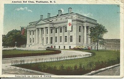 Red Cross postcard Washington HQ 1920