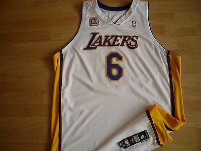 NBA Los Angeles Lakers Alternate Gameworn Jersey Trikot 2007/2008 - 60th Patch