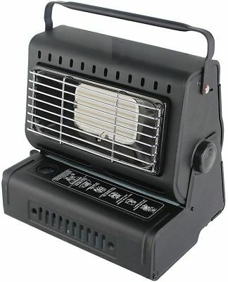 New Metal Portable Gas Heater Out/indoor Camping Fishing W/butane Gas Bottles