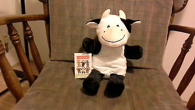 Ideal Christmas stocking filler: cute soft furry cow hand puppet
