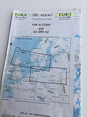 Vintage Aread North Europe Nav Chart - Ideal For Flight Simulation
