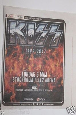 Kiss last tour ? sweden ad 2017 Live tour