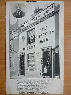 Shop Front The Shipwrights Arms -  Plymouth Postmark 1916 ?