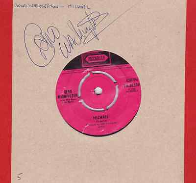 Signed Geno Washington And The Ram Jam Band Record- 7 inch 45 RPM - Piccadilly