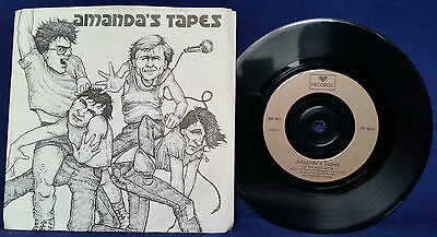 """Amanda's Tapes - Let The Rust Set In 7"""" in PS VERY RARE NEW WAVE/POST-PUNK"""