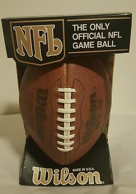 Vintage WILSON OFFICIAL NFL GAMEBALL Pete Rozell Commisioner AFC NFC Football EU