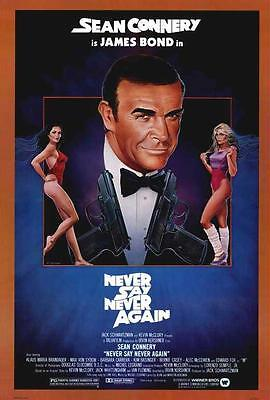 Never Say Never Again Movie POSTER 27 x 40, Sean Connery, B, LICENSED NEW