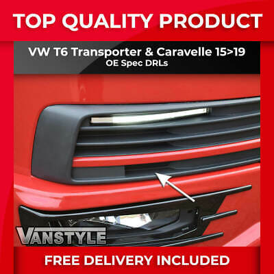 Vw Transporter T6 15+ Drl Kit Oe Spec Volkswagen Day Running Lights Upgrade Led