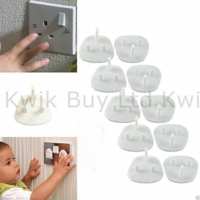 10 x Plug Socket Cover Baby Proof Child Safety Protector