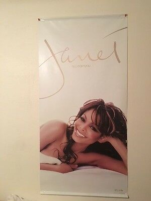 """Janet Jackson Promo 24"""" x 48"""" All For You Vinyl Poster"""