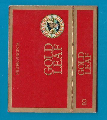 Old EMPTY cigarette packet Gold Leaf horizontal early warning, RARE  #982