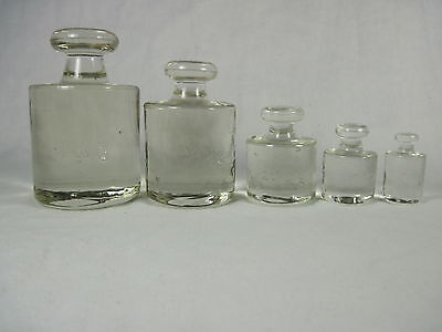 Vintage Glass weights for scale - Apothecary/decorative       5 pieces