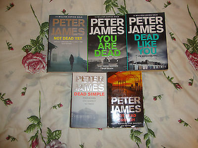 Peter James---5 Thick Paperback Books