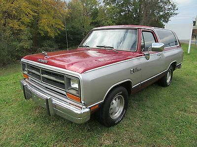 1989 Dodge Ramcharger  1989 Dodge Ramcharger Antique